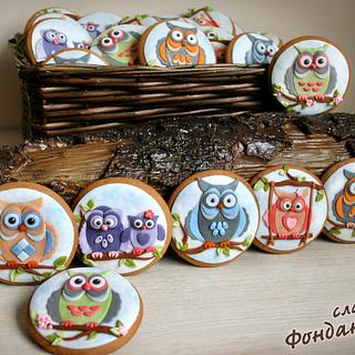 Owls - Cake by FondanEli