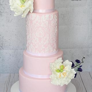 Anniversary wedding cake