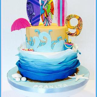 Beach Cake - Cake by AmberDoesCakes