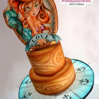 Airbrush marine cake