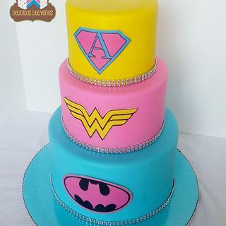 Girl Power! Superhero Cake