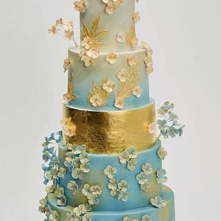 Hydrangea Cake in Pantones Colour of the year 2016
