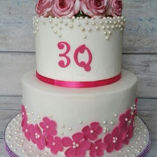 30 years wedding anniversary cake for my parents