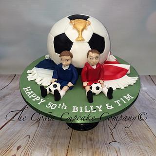 Football sphere cake