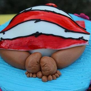 Dr. Seuss Themed Baby Shower Cake - Cake by caymancake