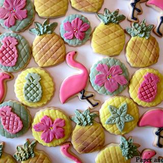 Tropical themed cookies  - Cake by Dina - Paper and Sugar