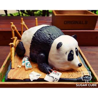 A grieving panda