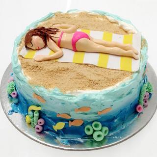 Beach Babe - Cake by Nikita