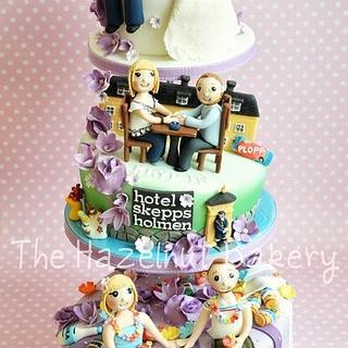 Personalised Story Wedding Cake - Cake by HazelnutBakery