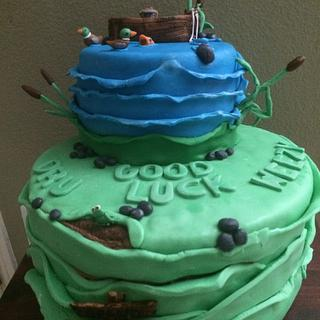 Fishing going away cake - Cake by Cakes by Crissy