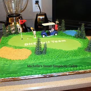 Golf Team Cake - Cake by Michelle