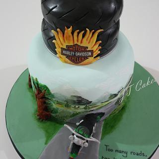 Harley Davidson Cake - Cake by JT Cakes