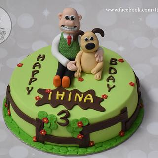 Wallace and Gromit cake