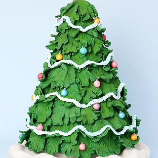 Christmas Tree Cake - Cake by CakesbyLynz