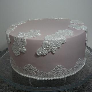 Vintage lace cake - Cake by Paula Rebelo