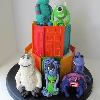 Monsters Inc 3rd Birthday Cake