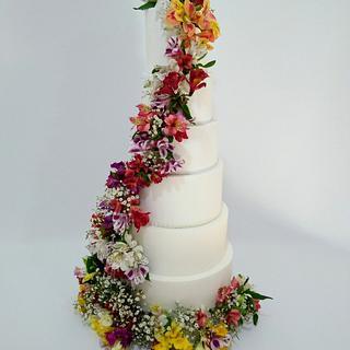 Torta de Boda - Cake by Lorena Gaudio