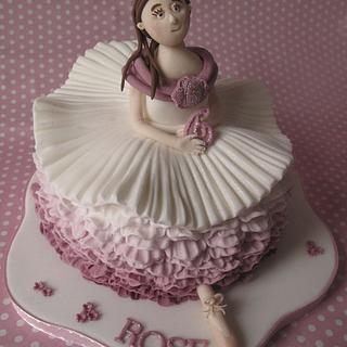 Ballerina Cake. Totally inspired by Debbie Brown's, Enchanted cakes