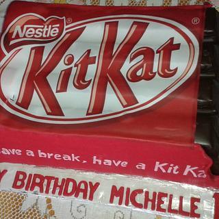 Kit Kat themed birthday cake - Cake by Probst Willi Bakery Cakes