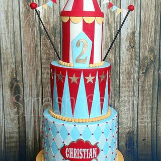 Cheery Vintage Carnival Cake