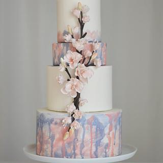 Cherry Blossom Memorial Cake