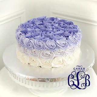 Purple Ombre Rosette Cake!