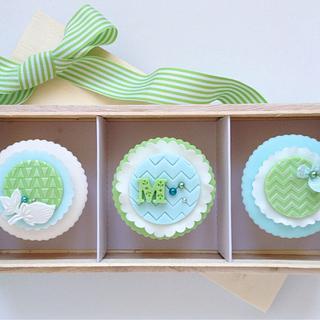 Chevron cupcakes - Cake by Hana Rawlings