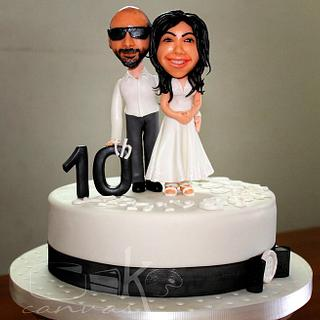 Sugar Caricature for Sweet couple Dhanya & Jerry