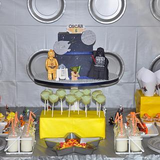 Lego Star Wars dessert table