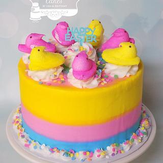 Easter Peeps - Cake by Sugar Sweet Cakes