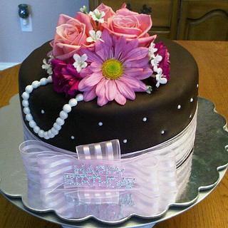 Elegant Birthday Cake - Cake by Tammy