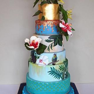 Hummingbirds Cake for Cake International 2014 - Gold award - Cake by Alpa Boll - Simply Alpa