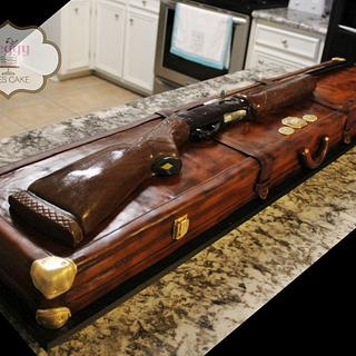 Groom's Hunting Rifle and Case