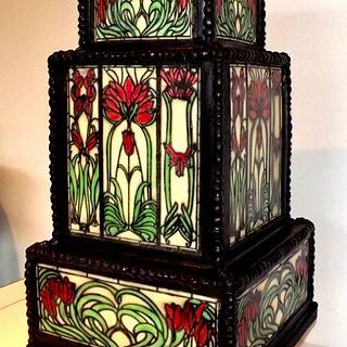 Art Deco, Tiffany Style Stain Glass Cake