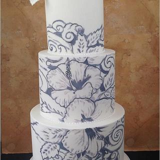 Hibiscus Tatt - Cake by Whitsunday Baked Creations - Deb Smith