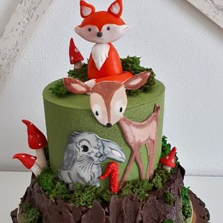 Birthday with forest animals