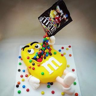 M&M gravity cake  - Cake by Cushty cakes