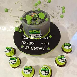 Ben 10 themed cake & cupcakes - Cake by Amanda Brunott