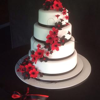 Poppies Wedding Cake
