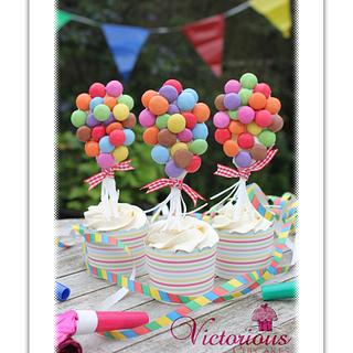 Helium Balloon Cupcakes - Cake by Victorious Cupcakes
