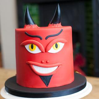 Devil character cake