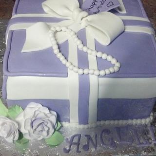 Gift Box cake - Cake by Debbie