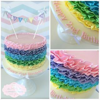 Sybella's Rainbow Ruffles