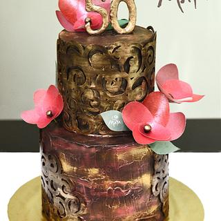 50th Wedding Anniversary cake - Cake by Abha Kohli