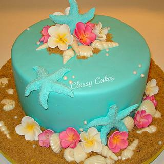 Tiffany Seashore - Cake by Classy Cakes By Diane