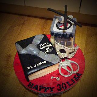 50 Shades of Grey inspired 30th birthday cake
