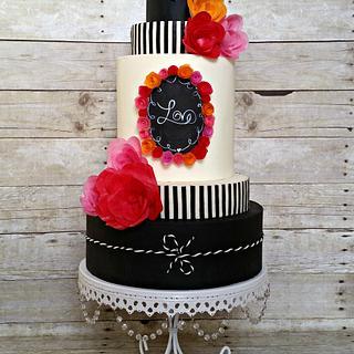 Chalkboard Love Cake