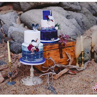 Winter Sea Love Wedding Cakes