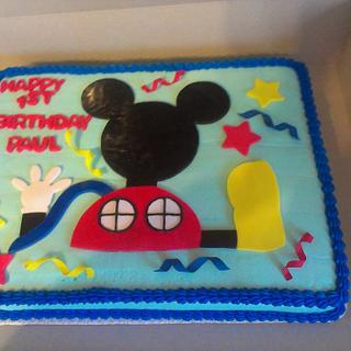 Mickey Mouse Clubhouse - Cake by YoureBakingMeCrazy