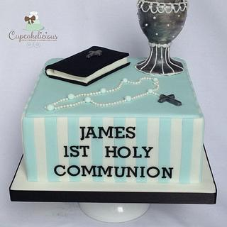 1st communion  - Cake by Cupcakelicious